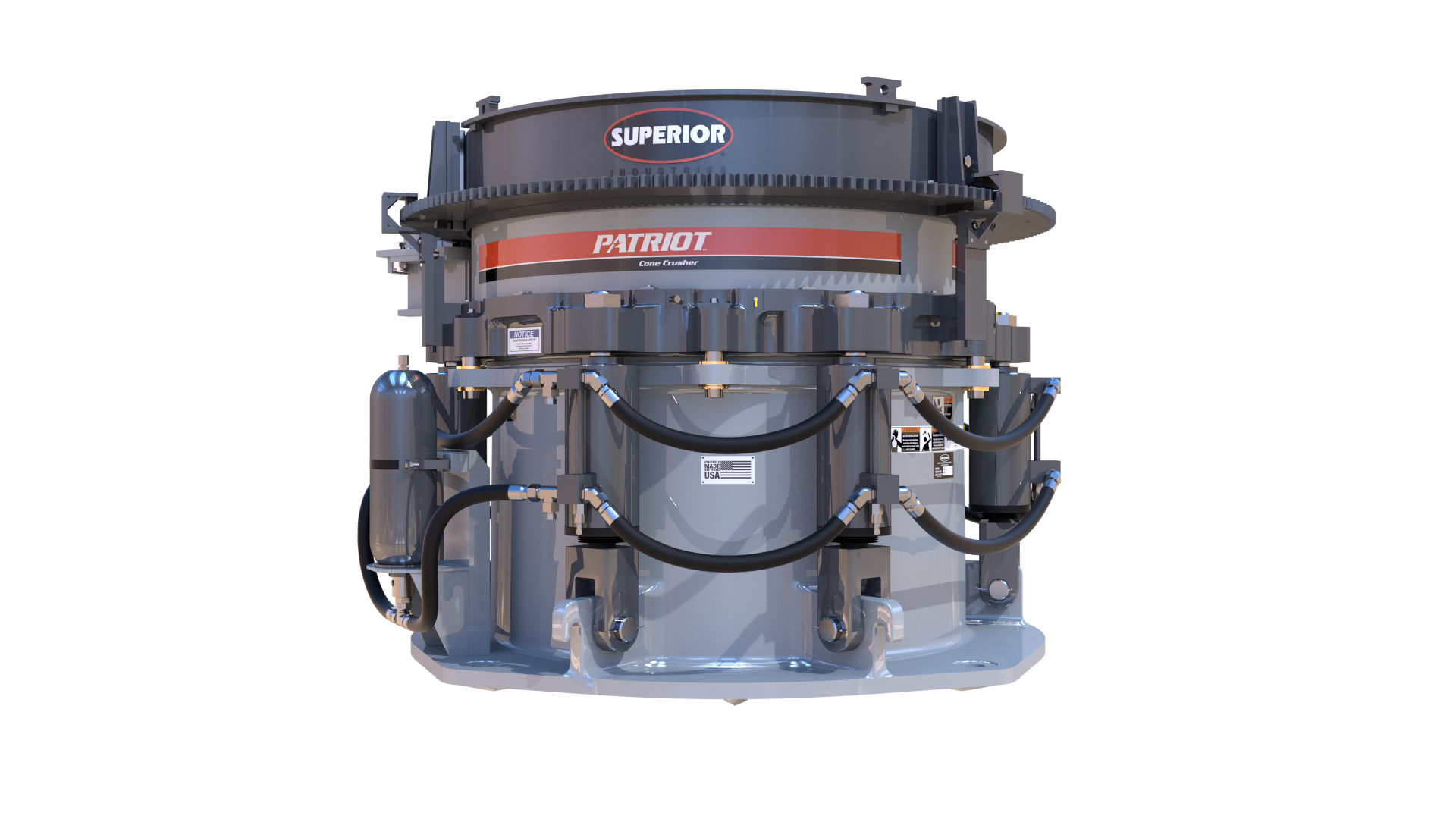 The Patriot Cone Crusher is a great example of U.S. made precision machining