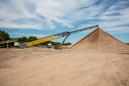 stacking conveyor from Superior Industries at Apex Sand and Gravel
