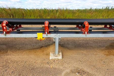 This overland conveyor is easy to get access to.