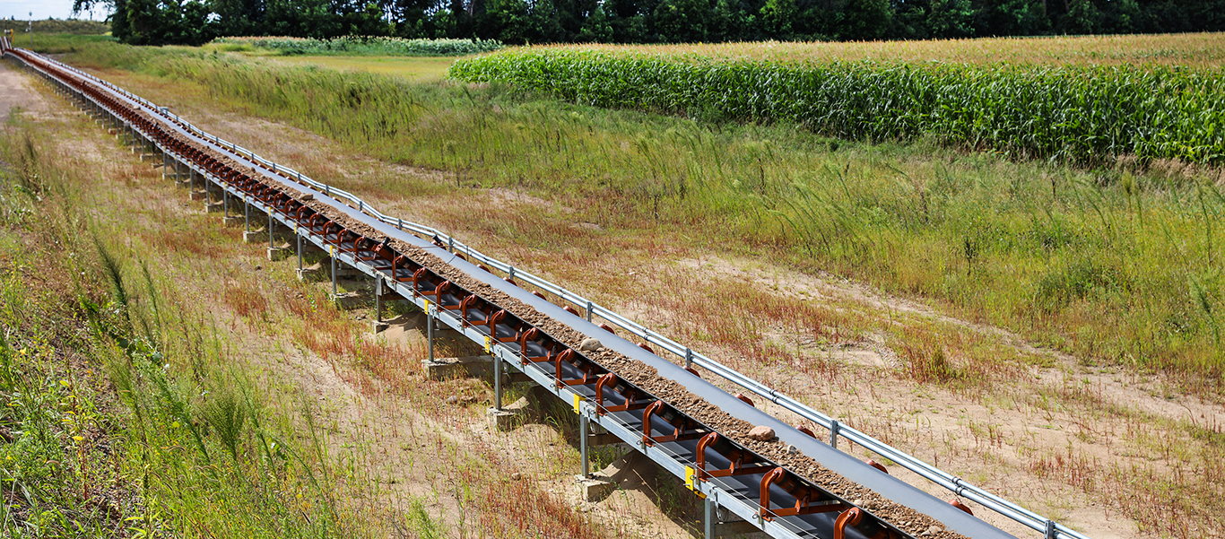 The only manufacturer to build a 500 foot overland conveyor that folds up to 84 feet.