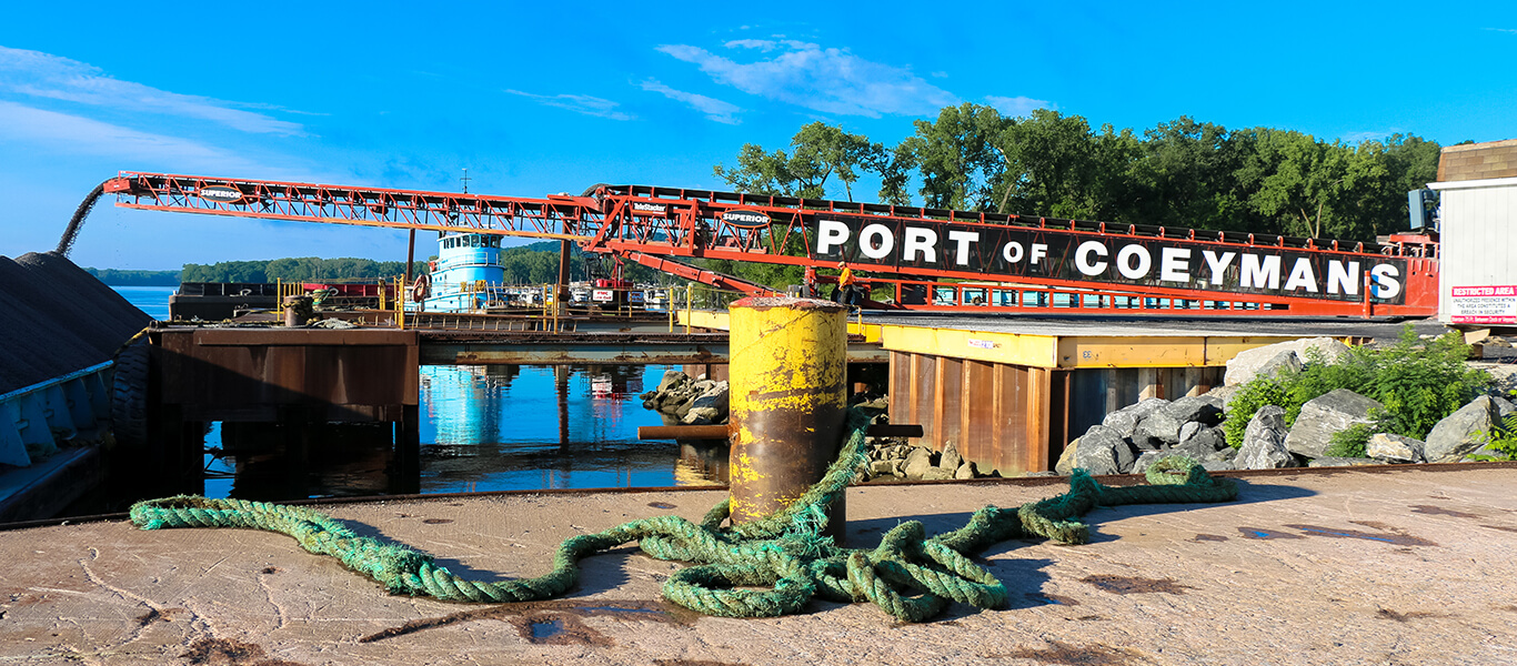 Superior Telestacker at the Port of Coeymans