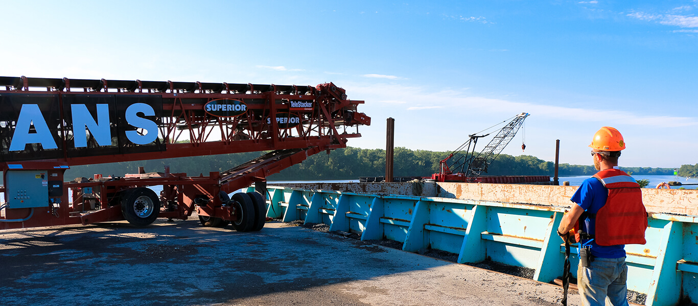 remote controlled telescoping conveyor.