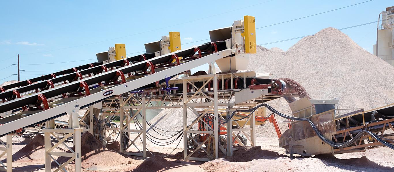 conveyor transition point at L.G. Everist