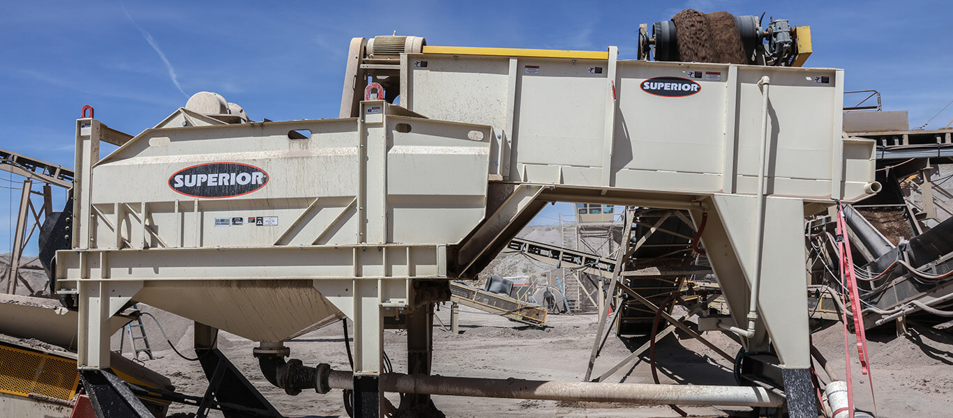 agitator dewatering screen combined in a product named the Alliance Low Water Washer.