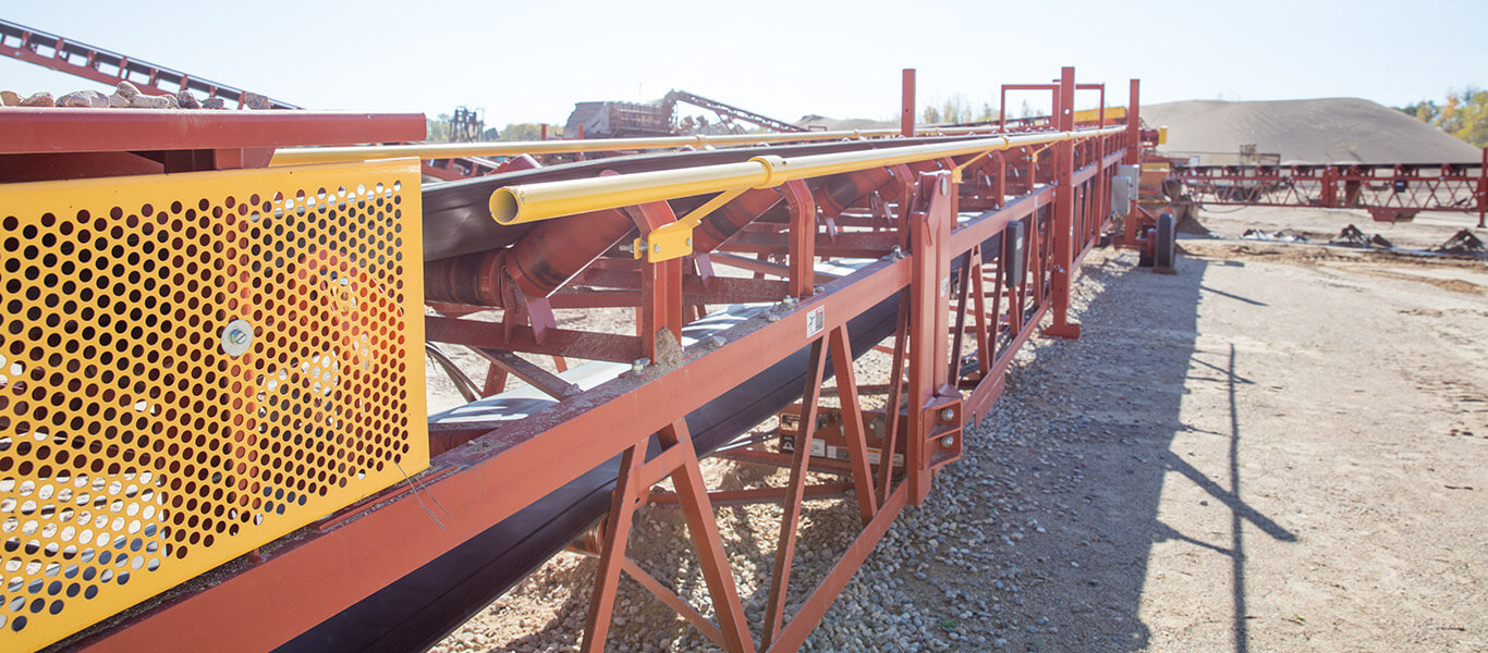safety handrail on Superior Conveyor.