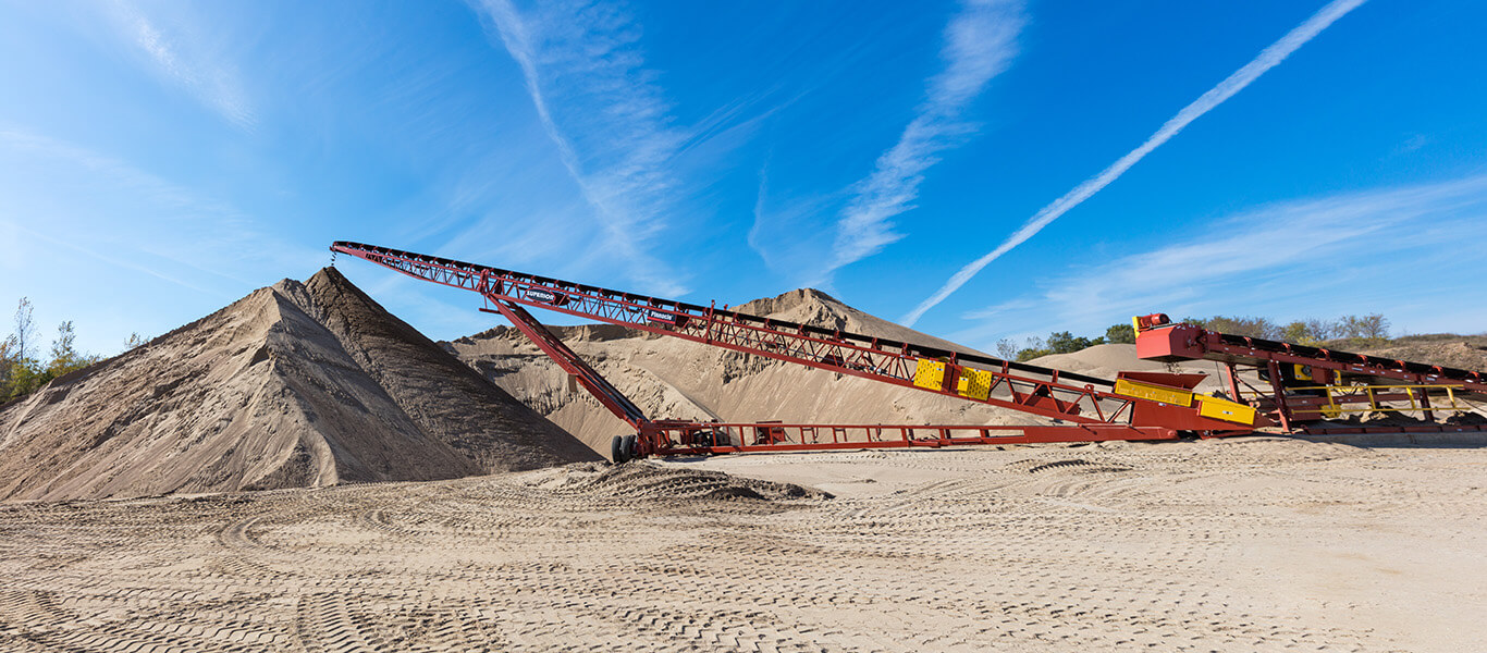 stacking conveyor in Glenwood, MN sand pit.