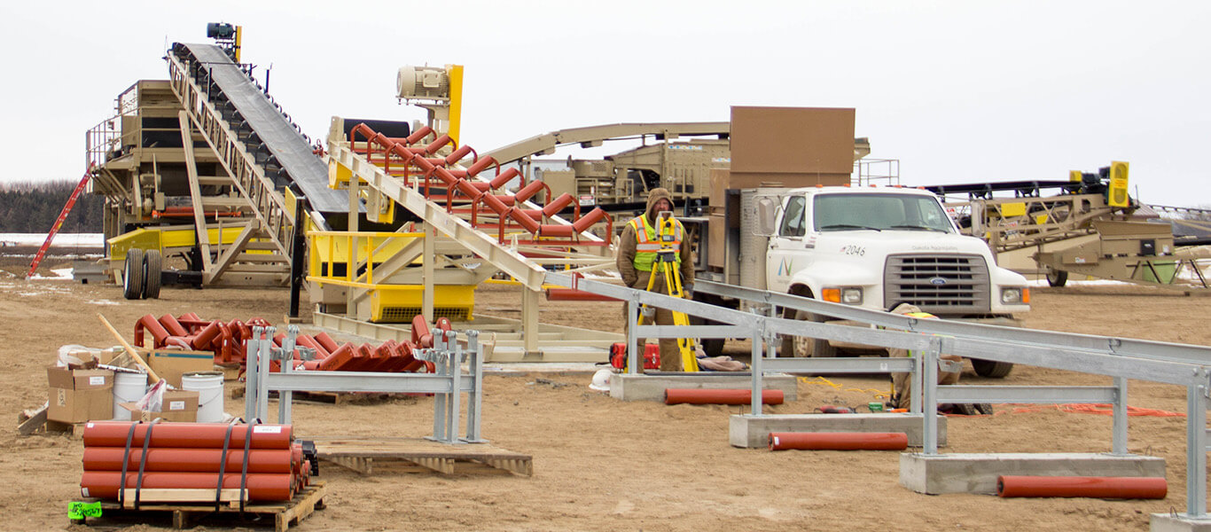 construction site for overland conveyor.
