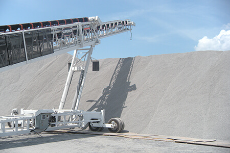 Telestacker Conveyor at Hubbard Construction