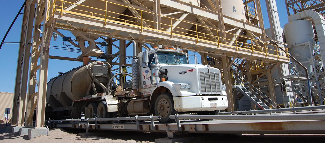 truck loading.