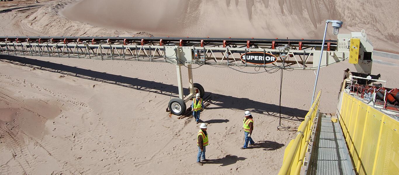 conveyor transfer point.