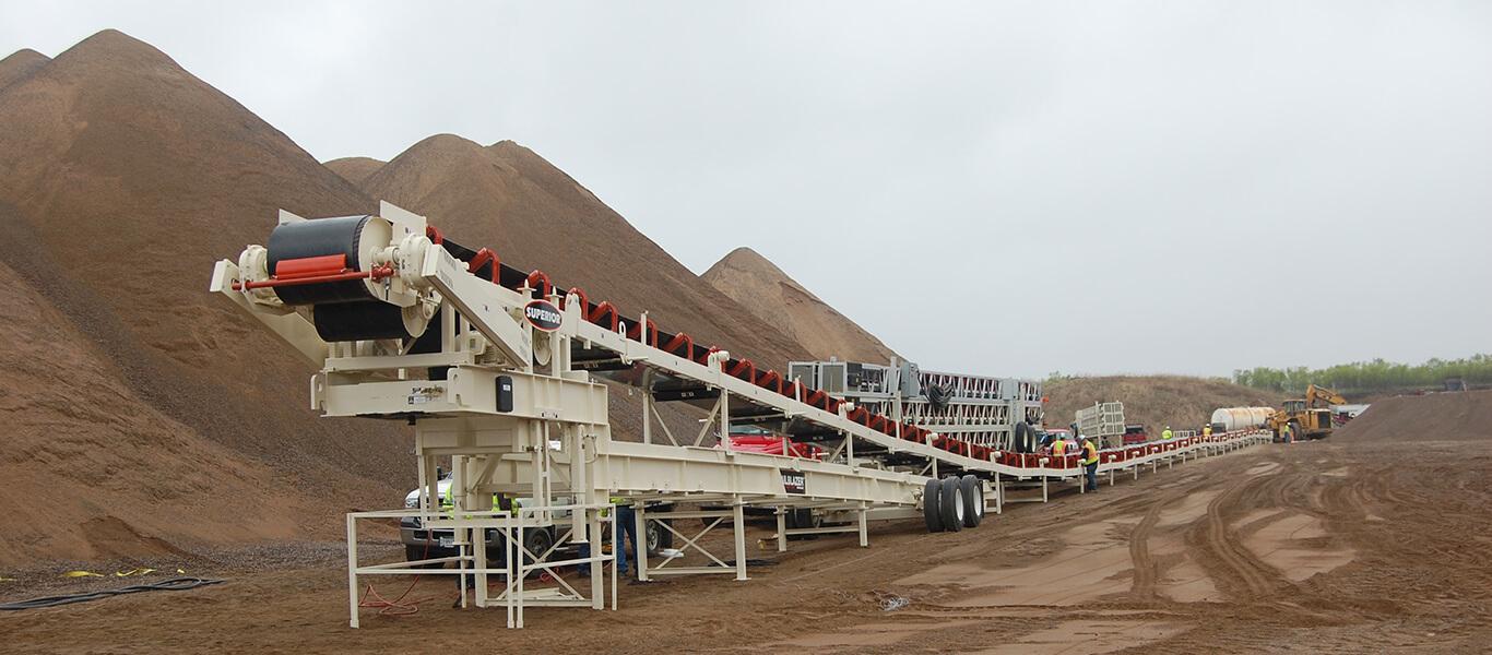 Trailblazer® Conveyor set up finished