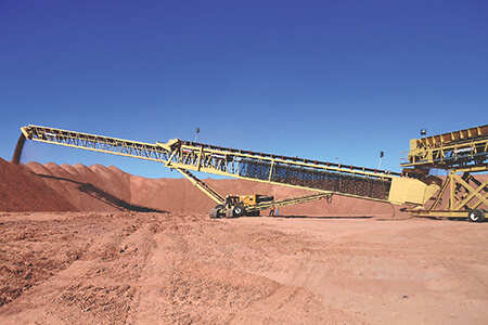 conveyor stacking in a heap leach application