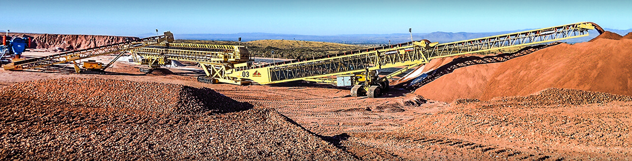 Mobile Heap Leach Conveying system by Superior Industries