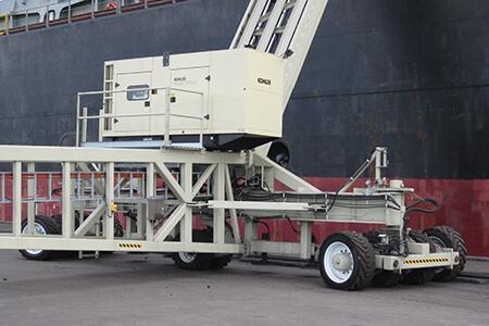 marine conveyor axle