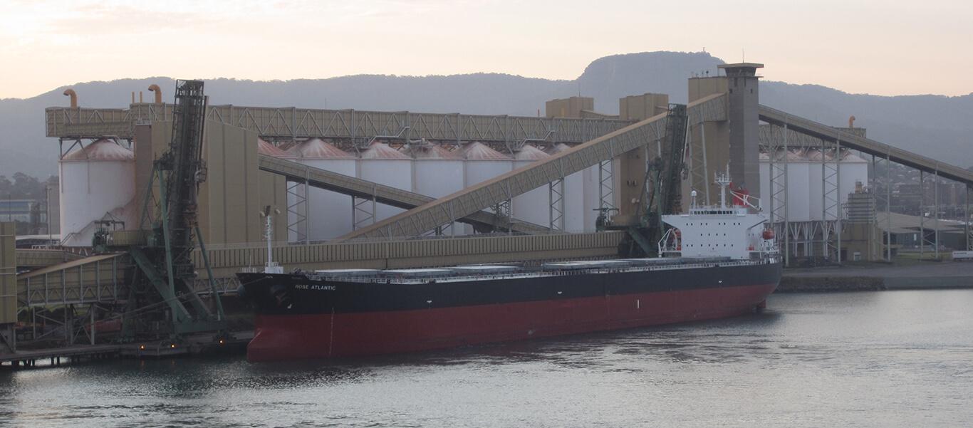 ship at the Port of Kembla
