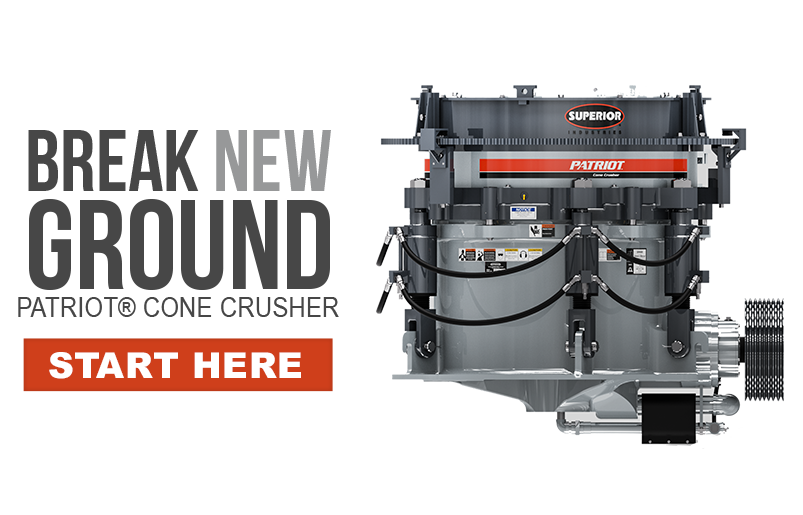 Break New Ground - Patriot® Cone Crusher