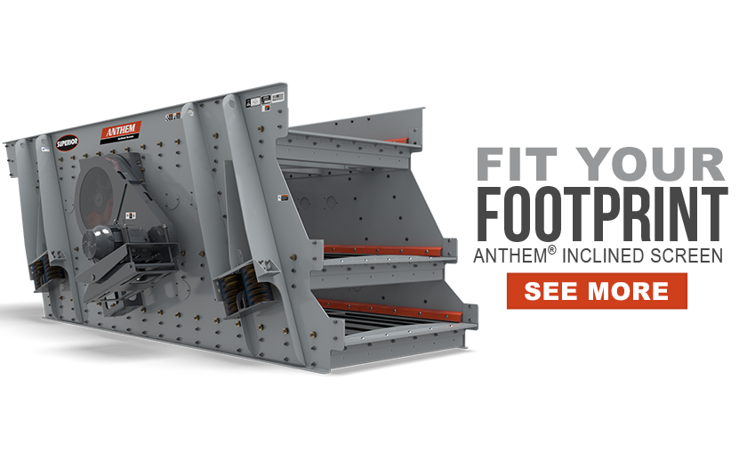 Fit Your Footprint - Anthem™ Incline Screen by Superior Industries