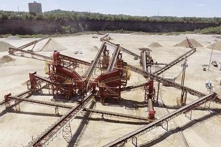 Kraemer Mining and Materials quarry floor