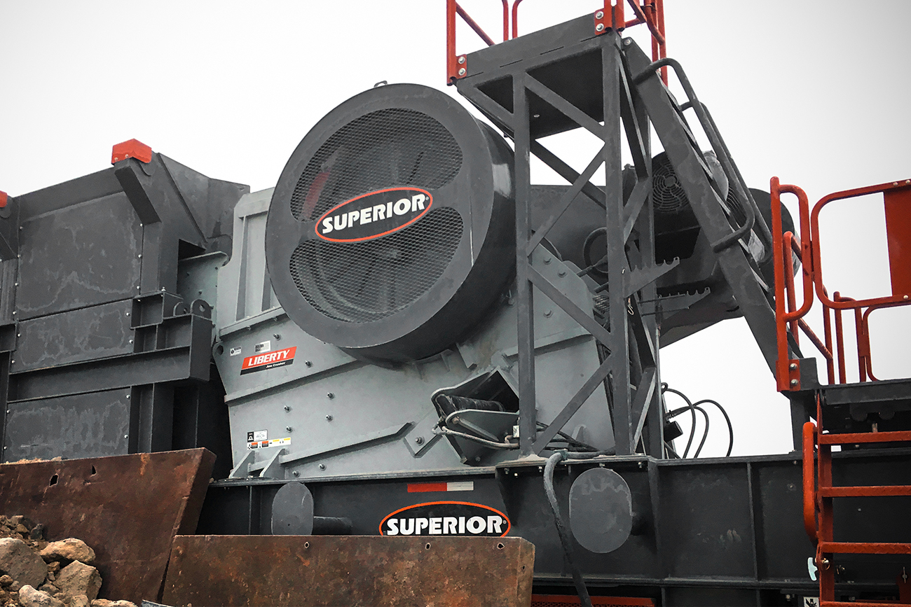 Liberty® Jaw Crusher - closeup Superior Industries
