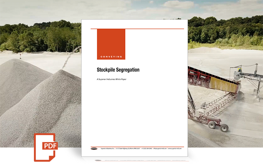 cover 1121 Stockpile Segregation white paper by Superior Industries