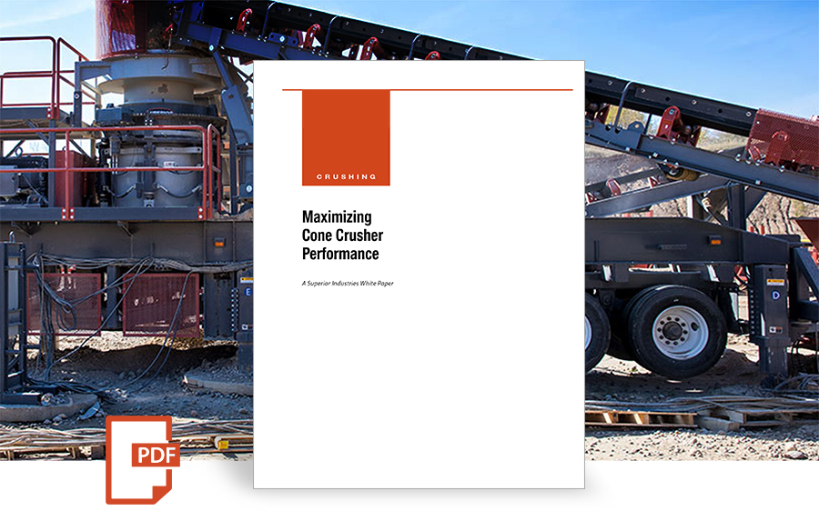 Maximizing Cone Crusher Performance white paper by superior industries