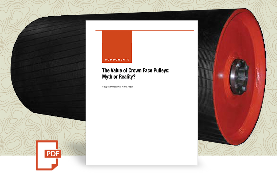 Value of Crown Face Pulley white paper by superior industries