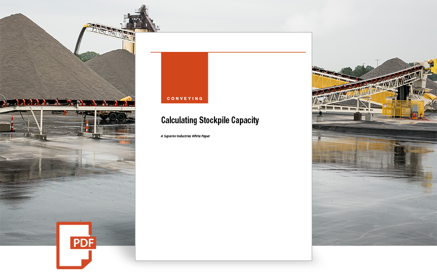 Calculating Stockpile Capacity white paper by Superior Industries