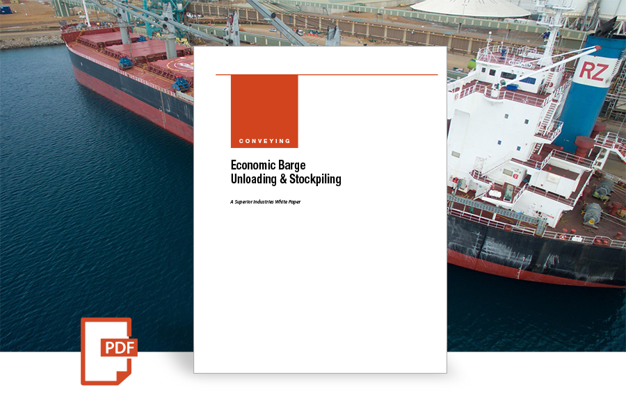 Economic Barge Unloading Stockpiling white paper by Superior Industries