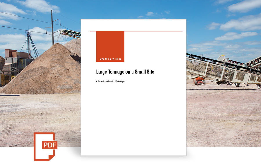 Large Tonnage on a Small Site white paper by superior industries