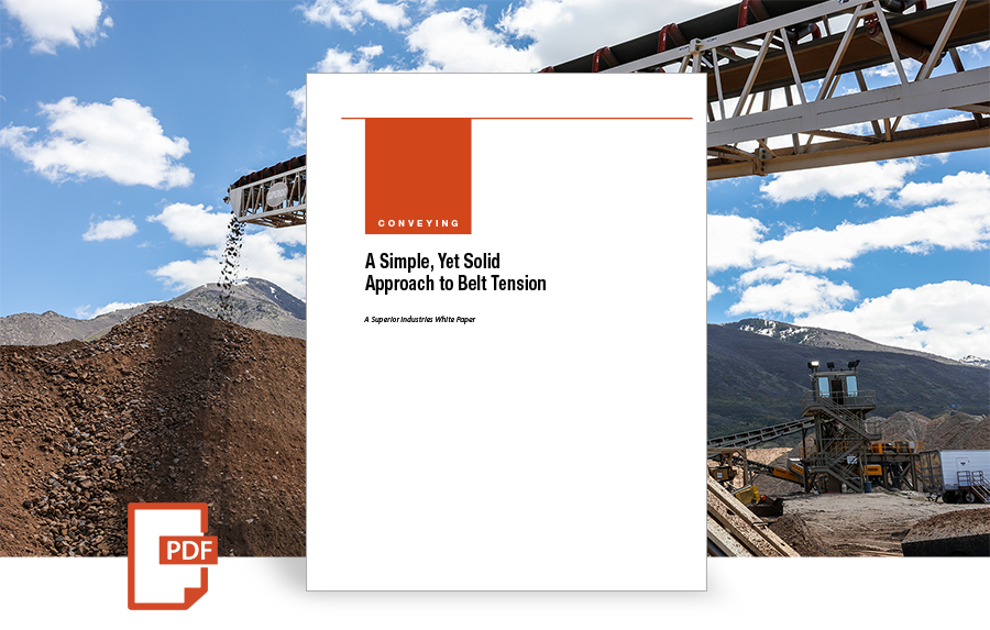 A Simple, Yet Solid Approach to Belt Tension white paper by superior industries