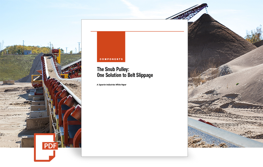 The Snub Pulley: One Solution to Belt Slippage, white paper by superior industries