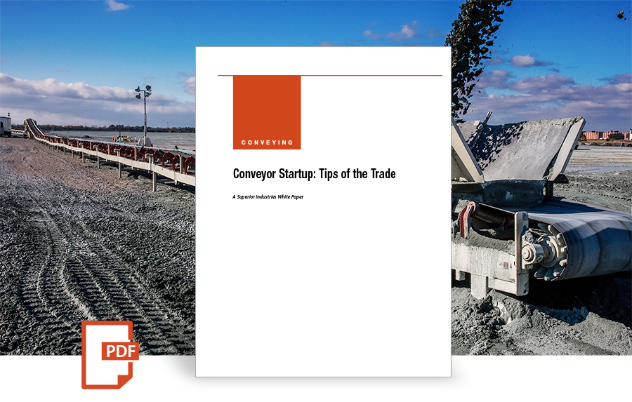 Conveyor Startup: Tips of the Trade, white paper by superior industries