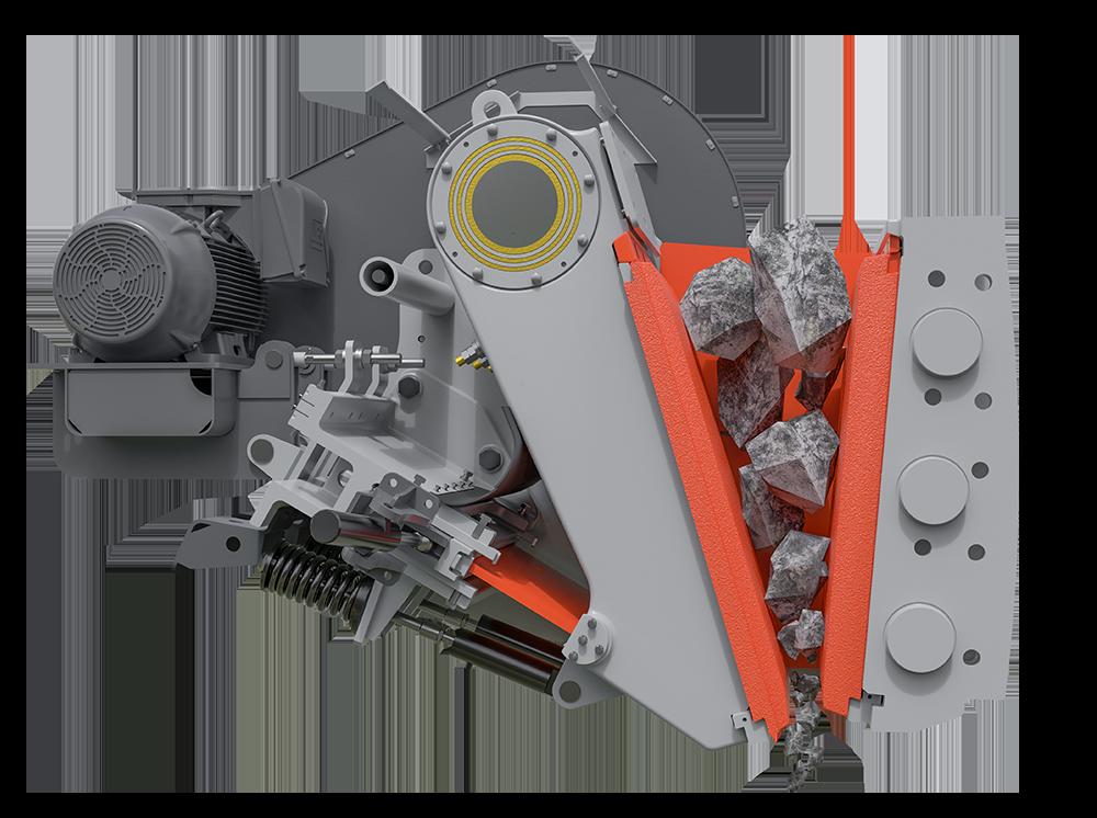 Liberty® Jaw Crusher - aggressive nip angle advantage