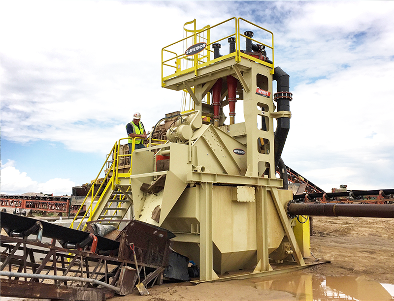 Fusion Platform - Washing system Spirit Sand Plant by Superior Industries