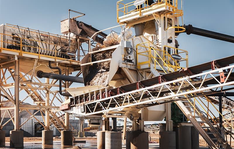 Spirit Sand Plant in application at Phoenix, AZ by Superior Industries