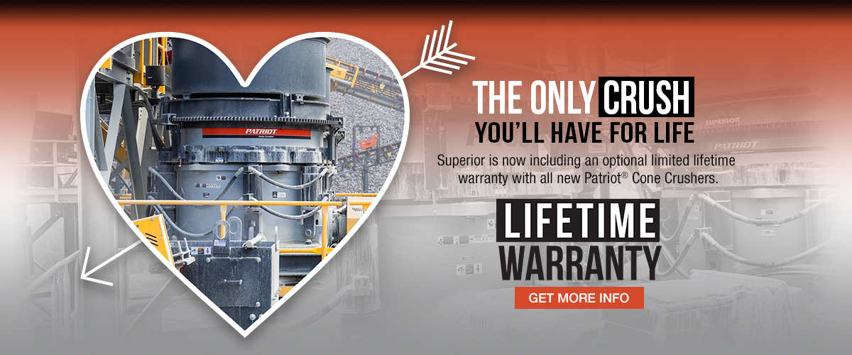 hero crusher lifetime warranty option by Superior Industries