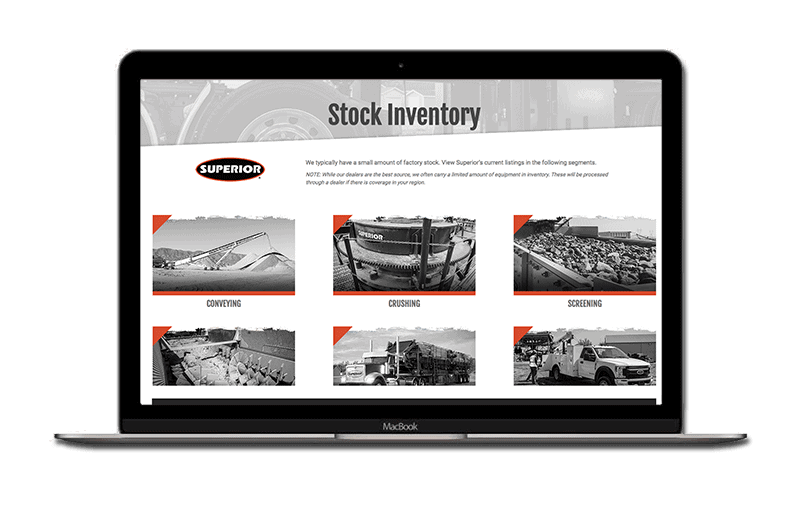 stock inventory mockup laptop - front page