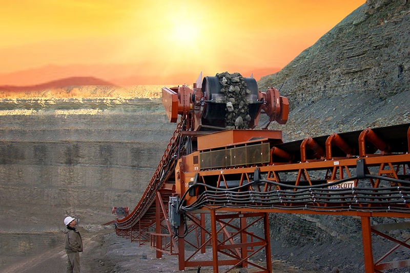 Overland Conveyor at sunset by Superior Industries