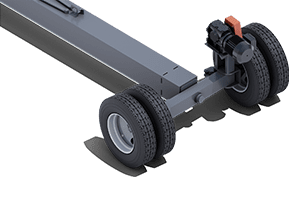 Fixed Width Pit Portable Axle Style | Pinnacle Conveyor Axle Style