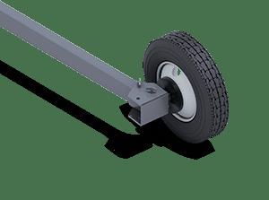 Fixed Width Portable Axle | Pinnacle Conveyor Axle Style