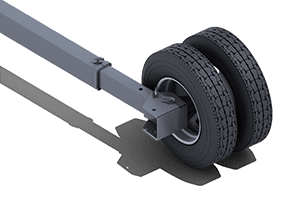 Telescoping Tube Axle | Pinnacle Conveyor Axle
