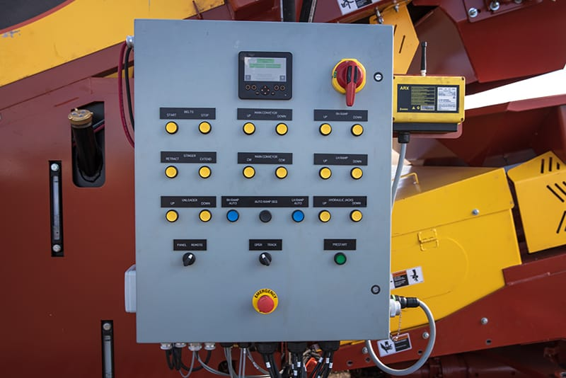 Remote for mobile conveyor