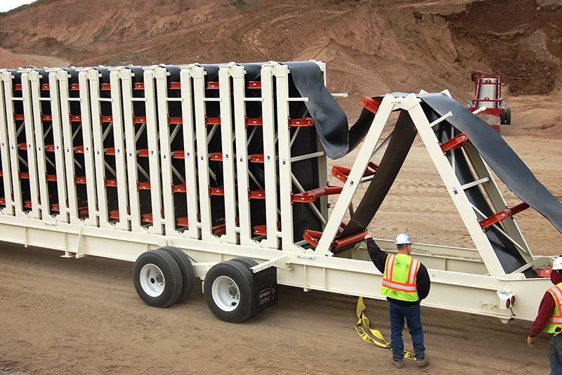 Esteira transportadora Trailblazer® de configuração rápida 05 da Superior Industries
