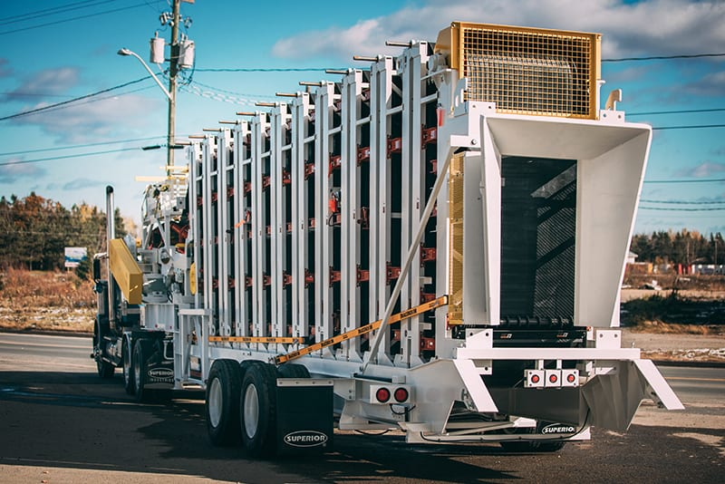 Esteira transportadora Trailblazer® 07 pronta para transporte