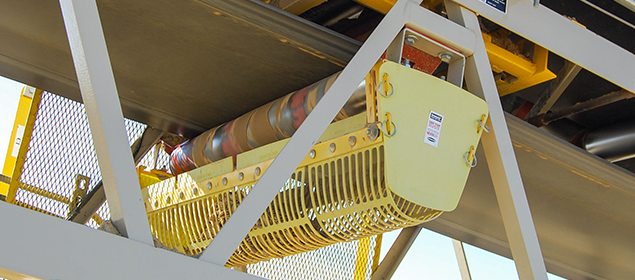 Proteções de rolete de retorno | Segurança da esteira transportadora | Superior Industries