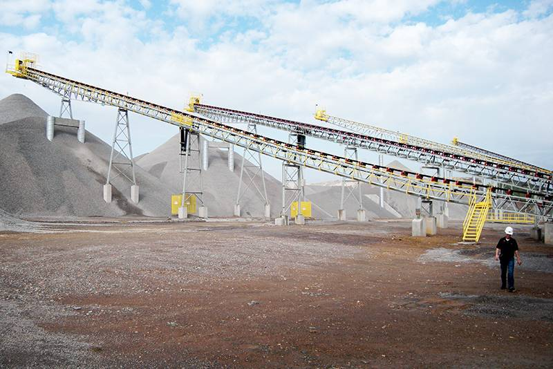 Building Stockpiles with Stationary Stacking Conveyor by Superior Industries