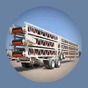 transporte circular LP Esteiras transportadoras de transferência circulares slide pac 300px