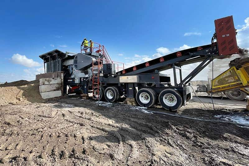 Liberty Jaw Crusher 13 by Superior Industries 2021-09 Liberty Jaw Plant 3055B startup at PECO
